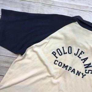 VTG 90s Polo Ralph Lauren Jeans Baseball shirt XL